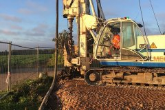 CFA piling on a construction site at Colchester