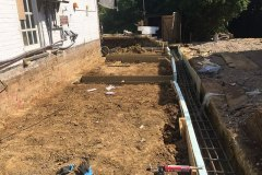 Groundworks to a house in Surrey